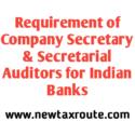 Requirement of CS & Secretarial Auditors for Indian Banks
