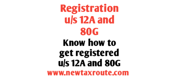 Registration u/s 12A and 80G