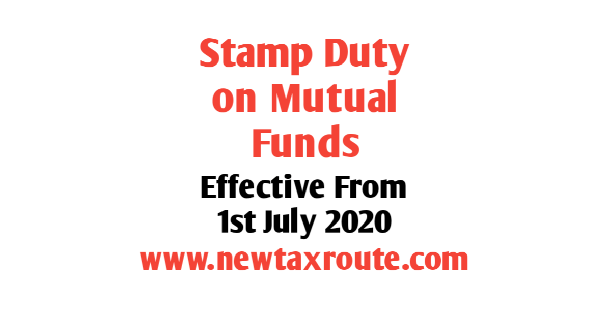 Stamp Duty on Mutual Funds