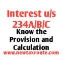 Interest under Section 234A, 234B, and 234C