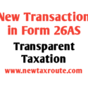 new transaction in form 26AS