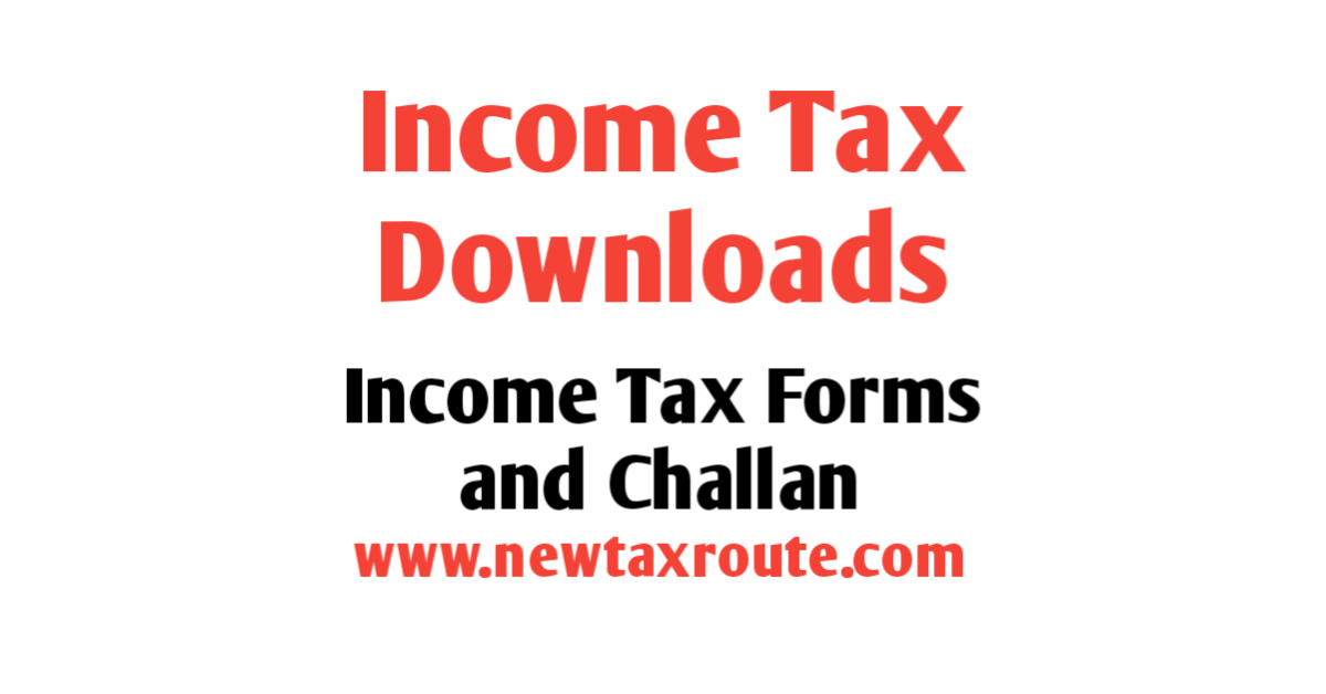 Download Income tax forms | challans