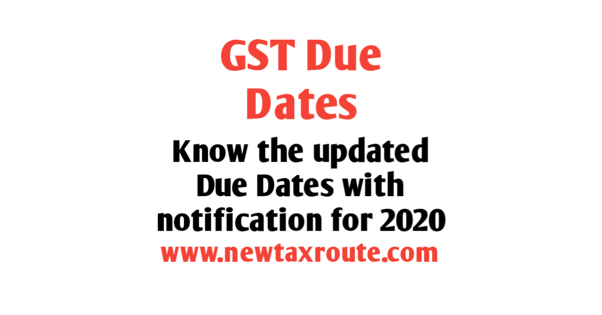 GST Due Date Extension Notification