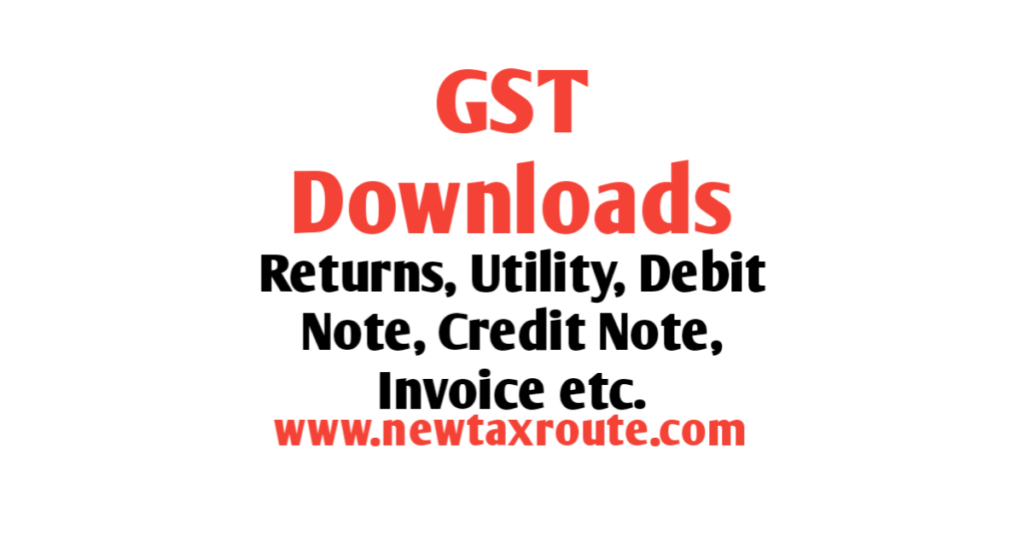 GST Returns and Utility Download