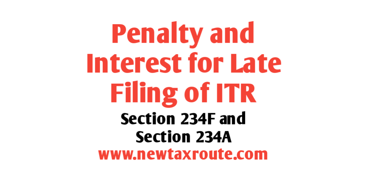 Penalty For Late Filing of ITR for AY 2020-21