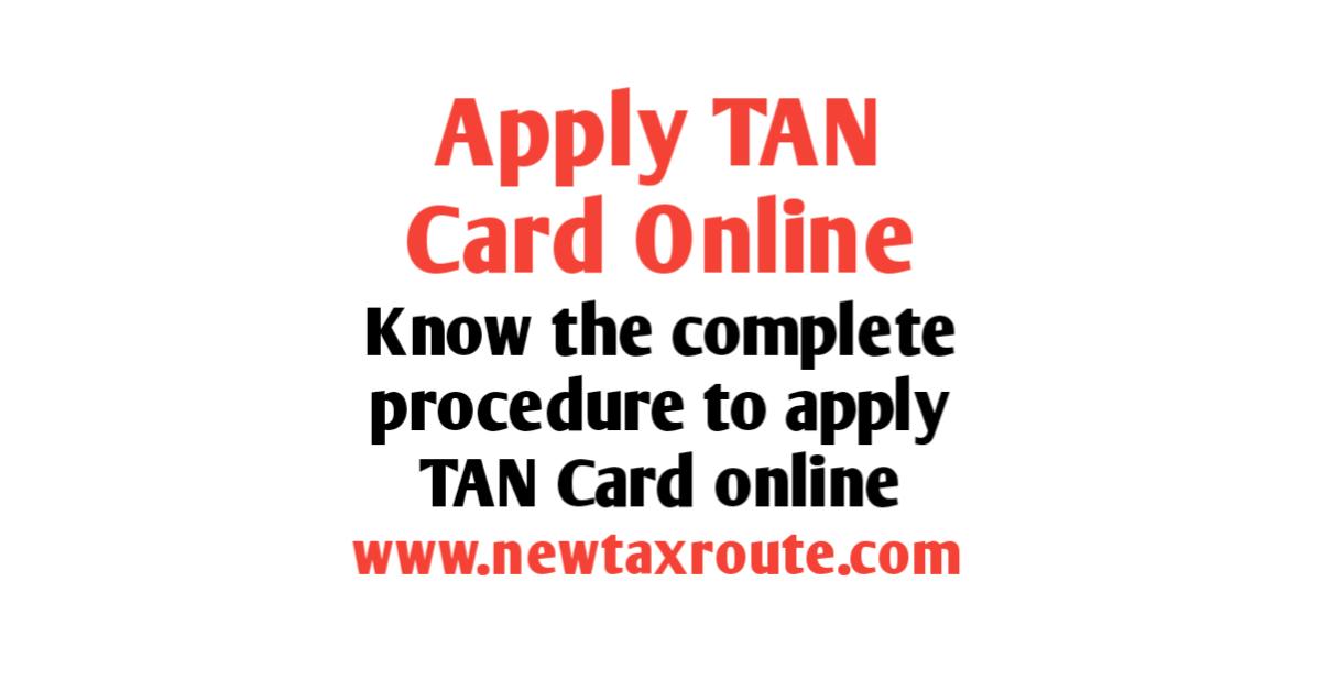 TAN application online