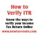 How to Verify ITR Online