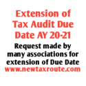 Extension of Tax Audit Due Date for AY 2020-21