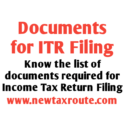 Documents required for ITR filing