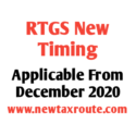 RTGS New Timing From December 2020