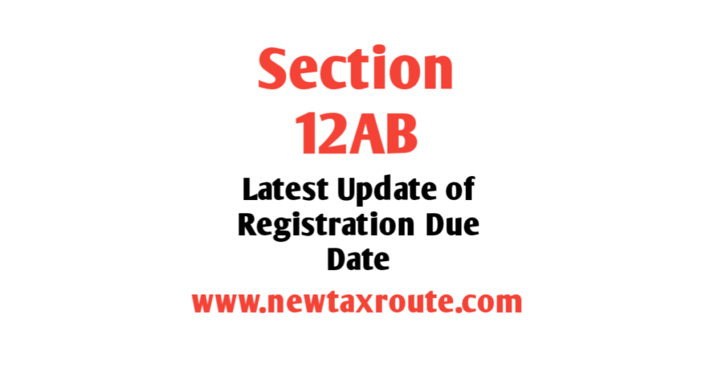 Update of 12AB Registration Due Date