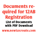 Documents required for 12AB Registration