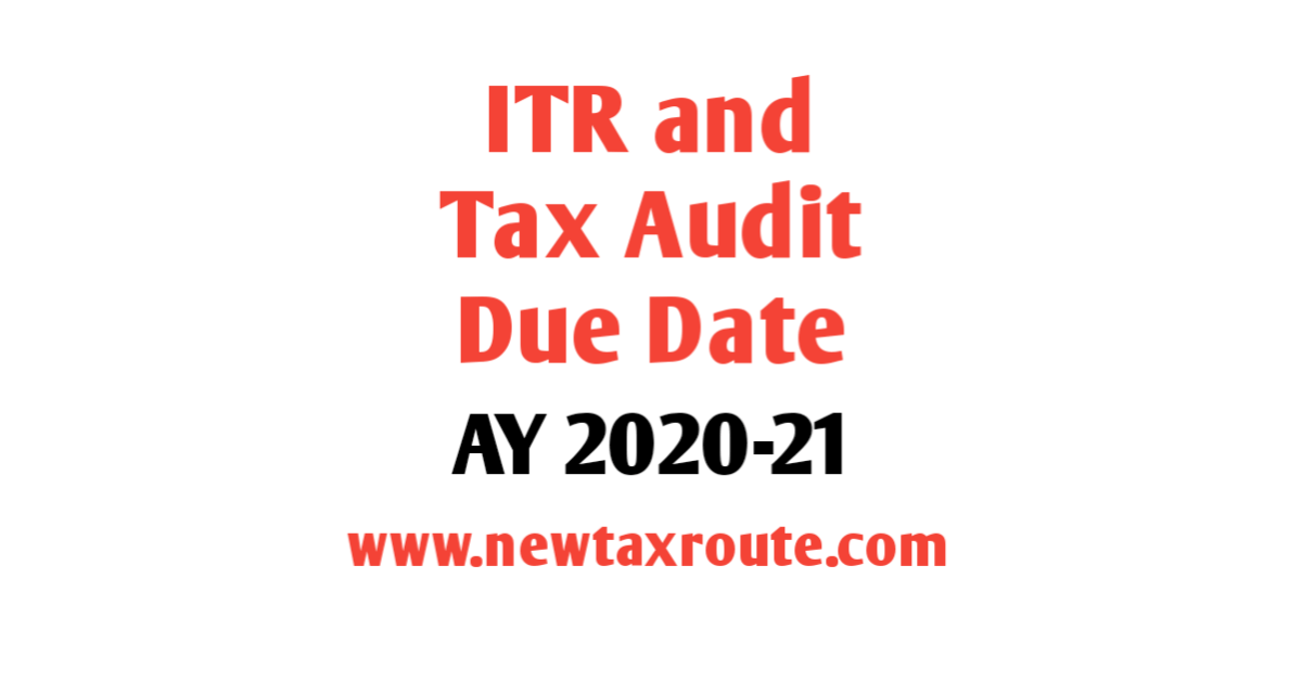 Income Tax Filing Due Date Tax Audit