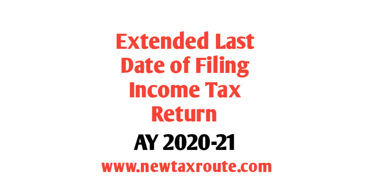 Last Date for Filing ITR for AY 2020-21