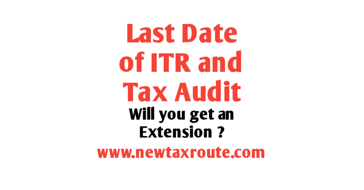 Last Date of ITR and Tax Audit