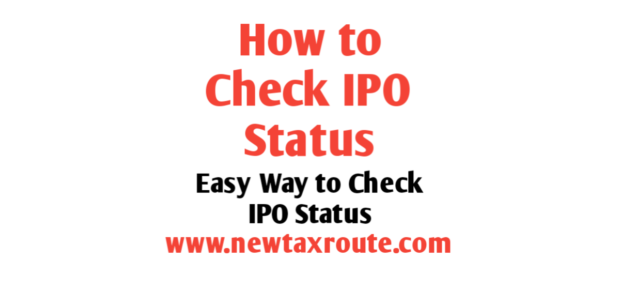 How to check IPO Status Online