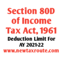 Section 80D of Income Tax Act for AY 2021-22