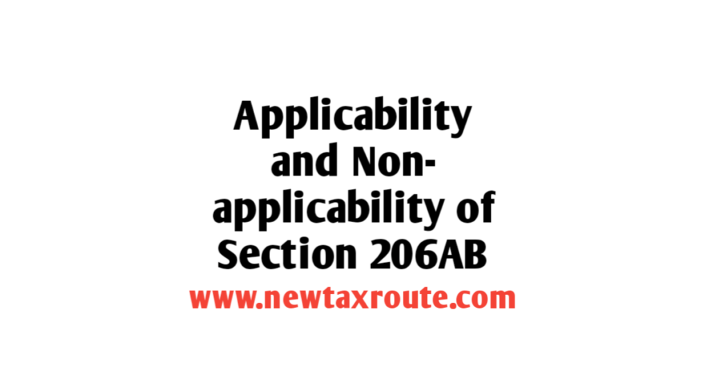 applicability of section 206AB of the Income Tax Act