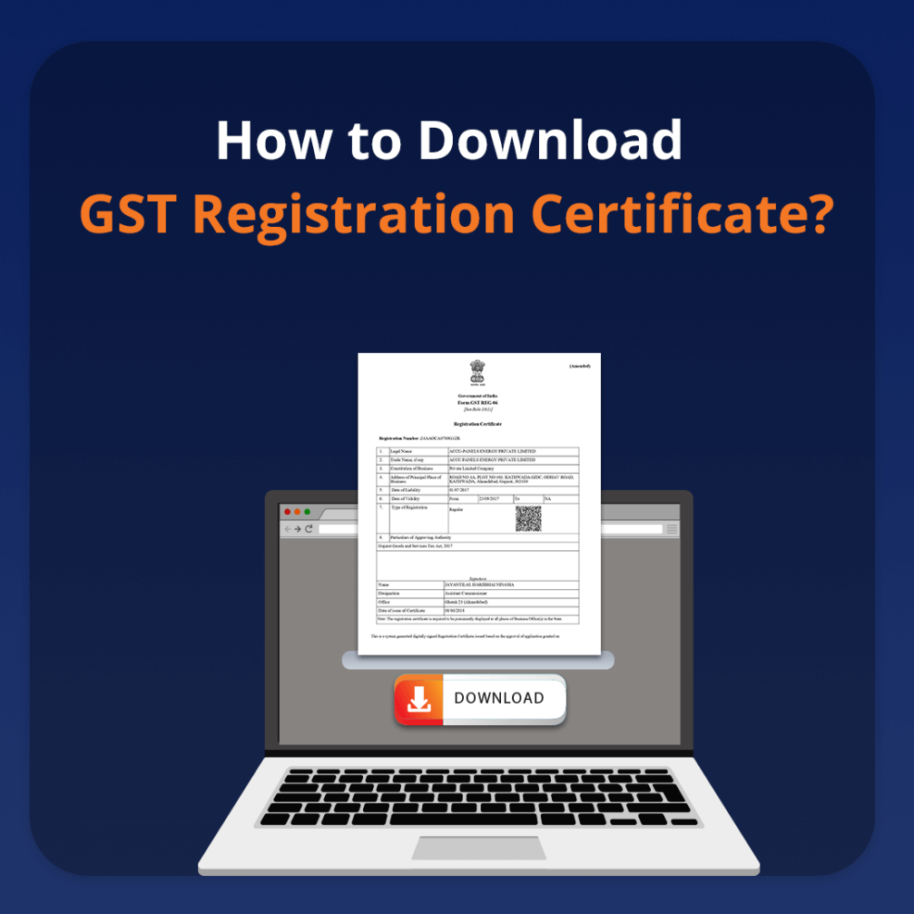 How to Download GST Registration Certificate?