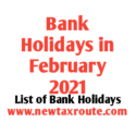 List of February Bank Holidays 2021
