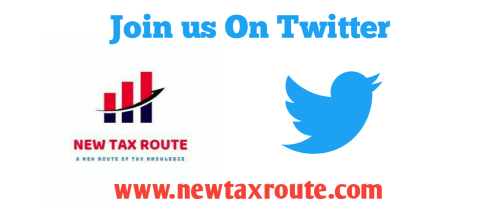 New Tax Route Twitter