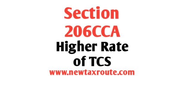 Section 206CCA of the Income Tax Act 1961