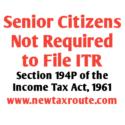 Senior Citizen Exemption From Filing of Return