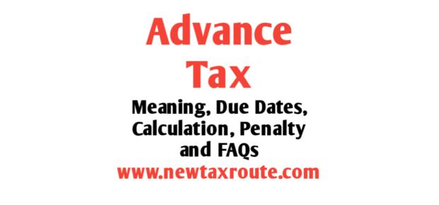 Advance Tax Due Dates