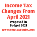 Income Tax Changes From April 2021