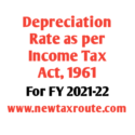 Depreciation rate as per income tax act for FY 2021-22