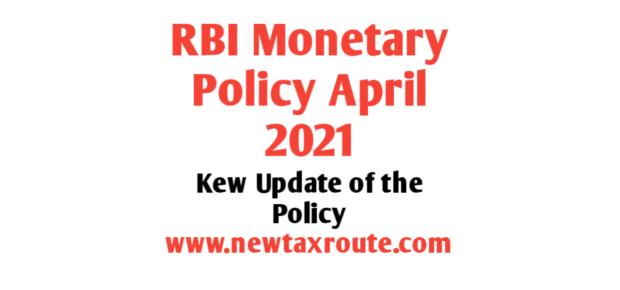 RBI Monetary Policy April 2021