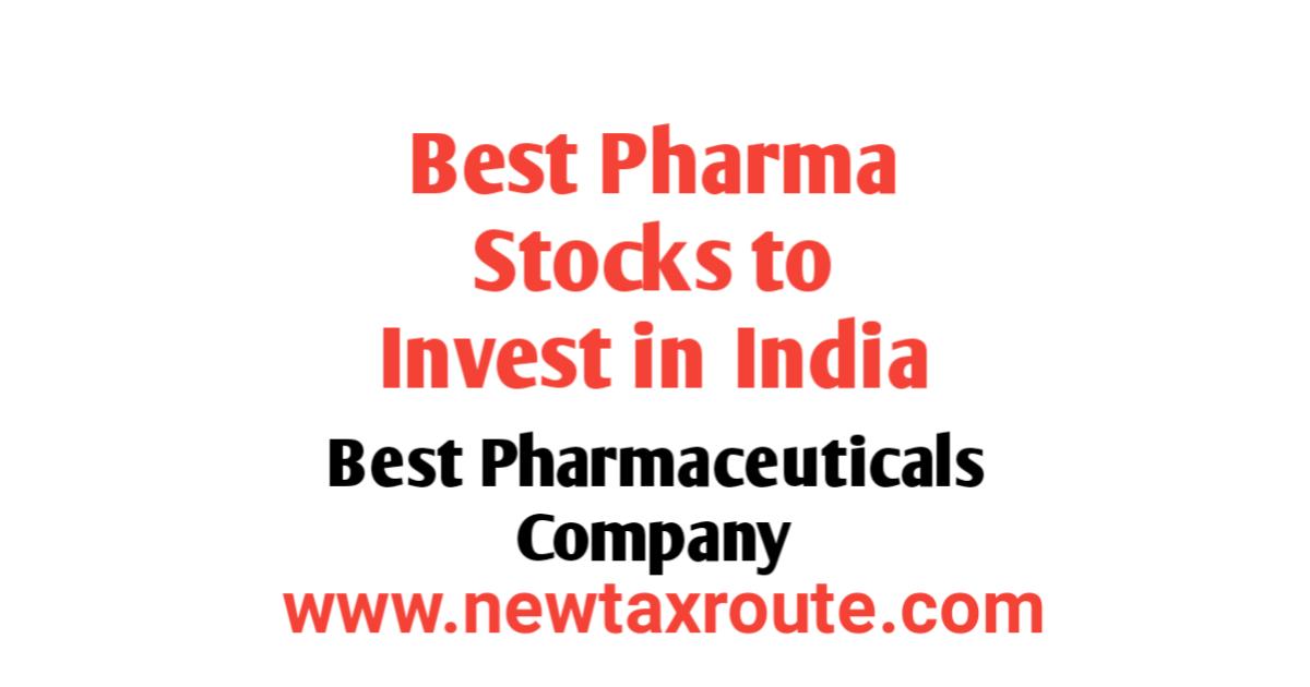 Best Pharma Stocks To Buy in India