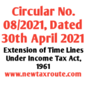 Circular No. 08/2021: Dated 30th April 2021