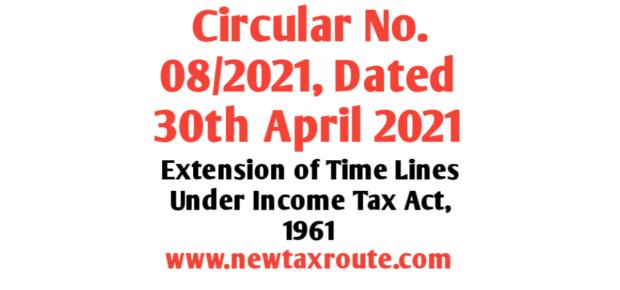 Circular No. 08/2021: Dated 30th April 2021