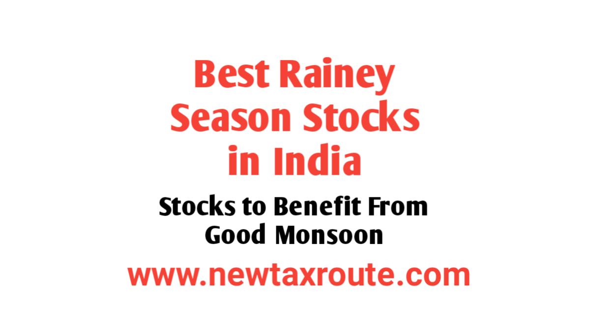 Best Rainy season stocks to buy in India