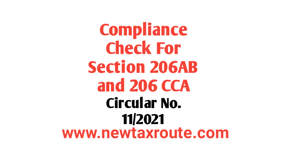 Compliance check for section 206AB and section 206CCA