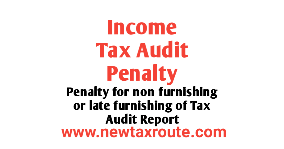 Income tax Audit Penalty