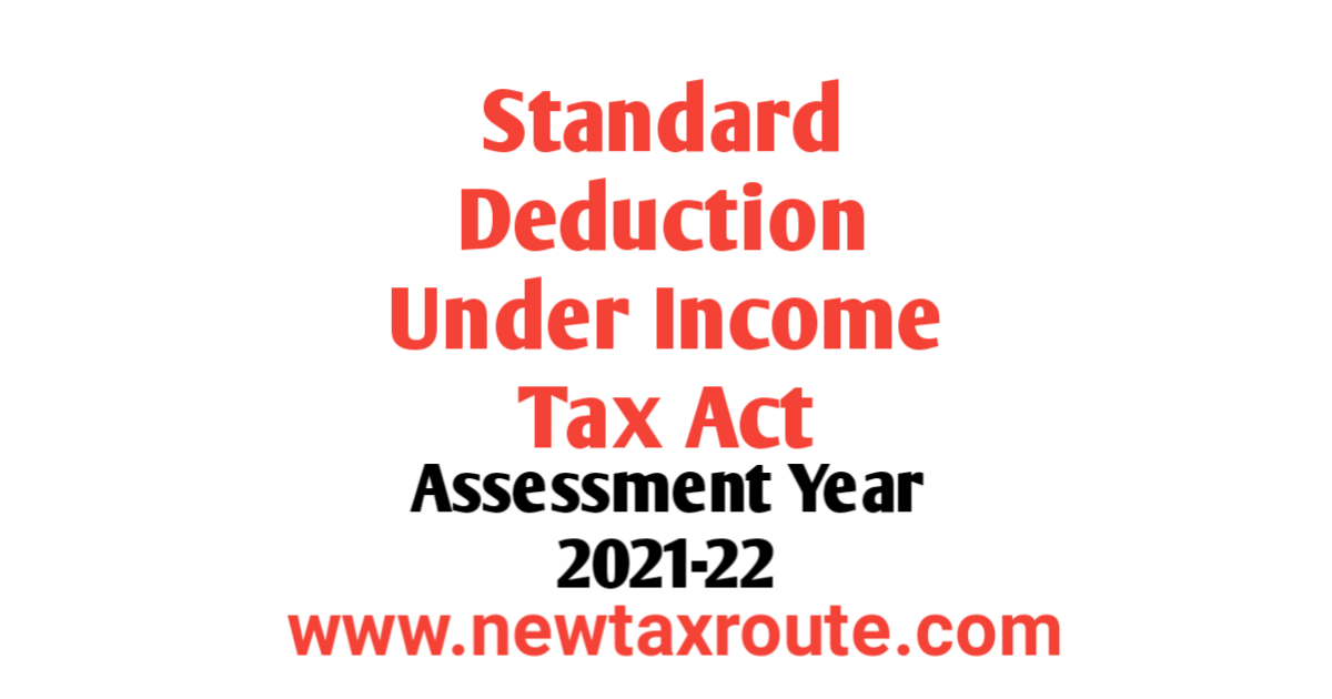 Standard Deduction For AY 2021-22