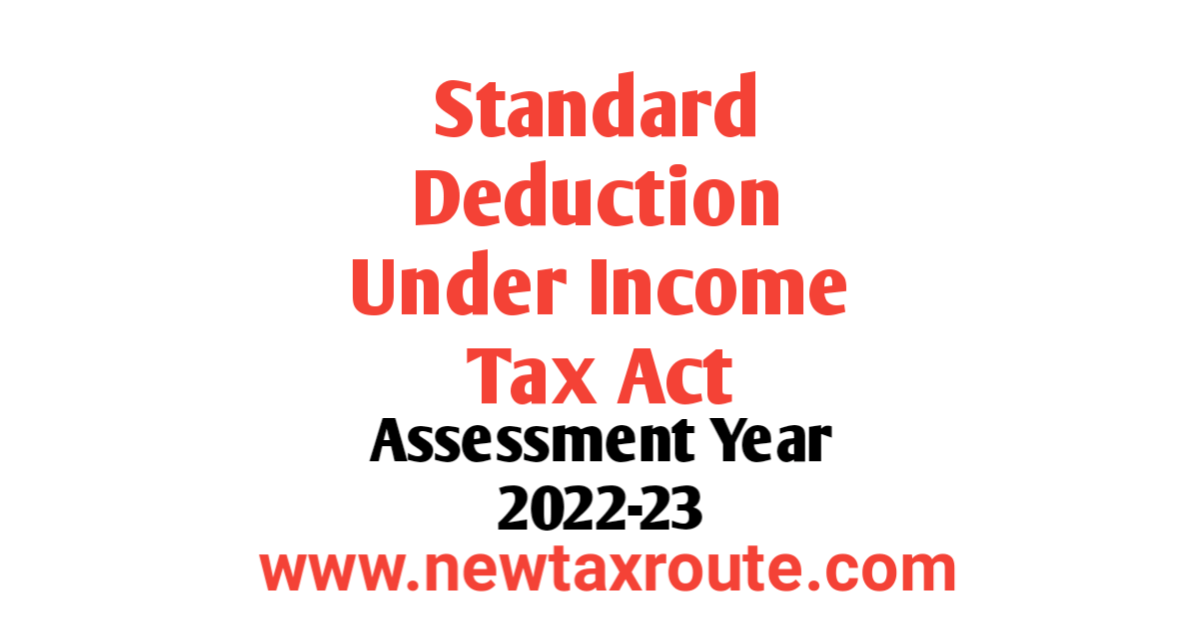 Standard Deduction For AY 2022-23