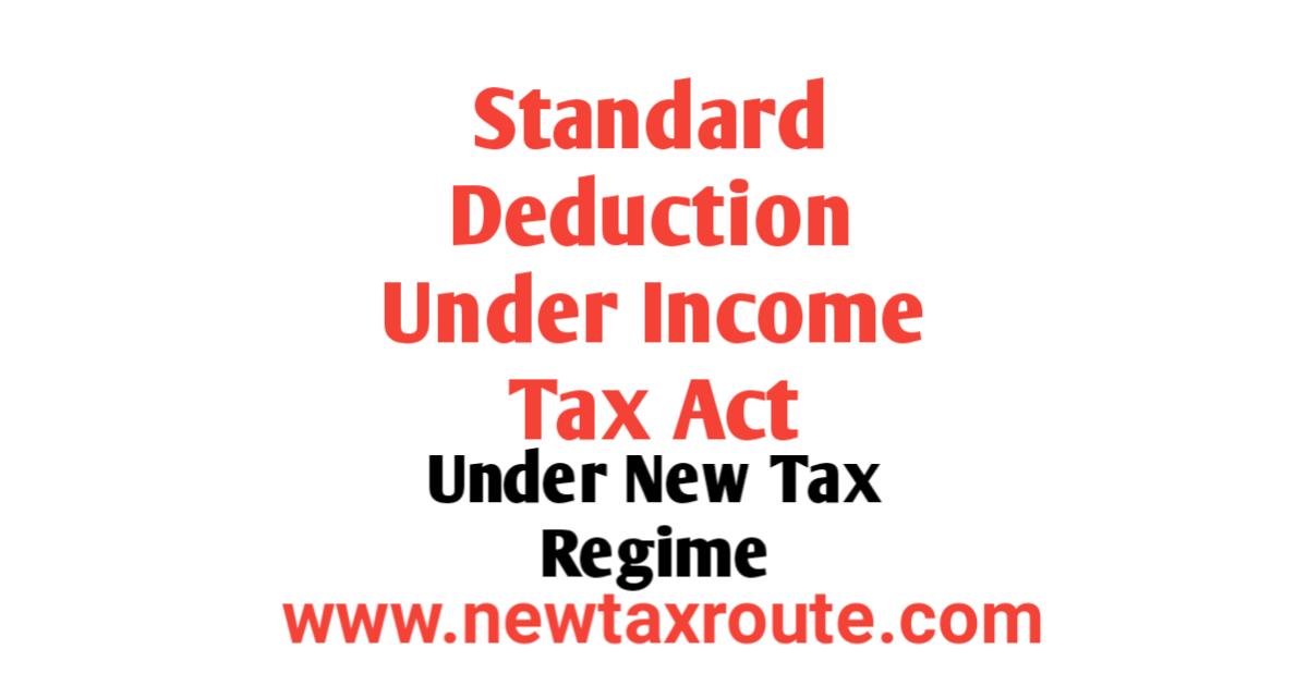 Standard Deduction in New Tax Regime