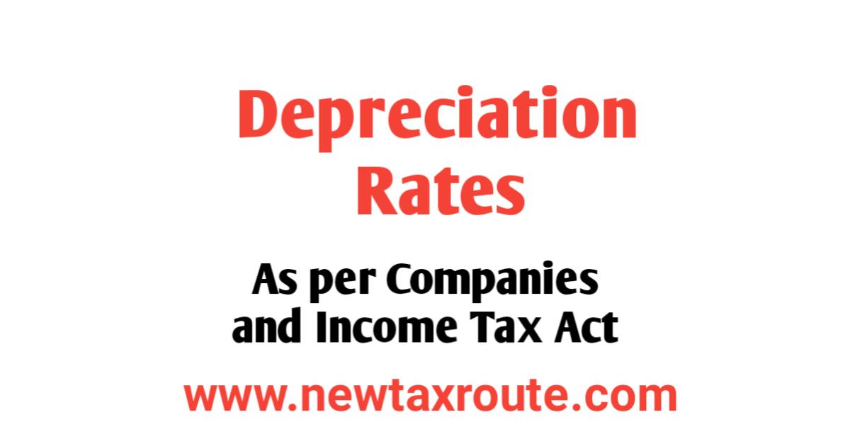 Depreciation Rates