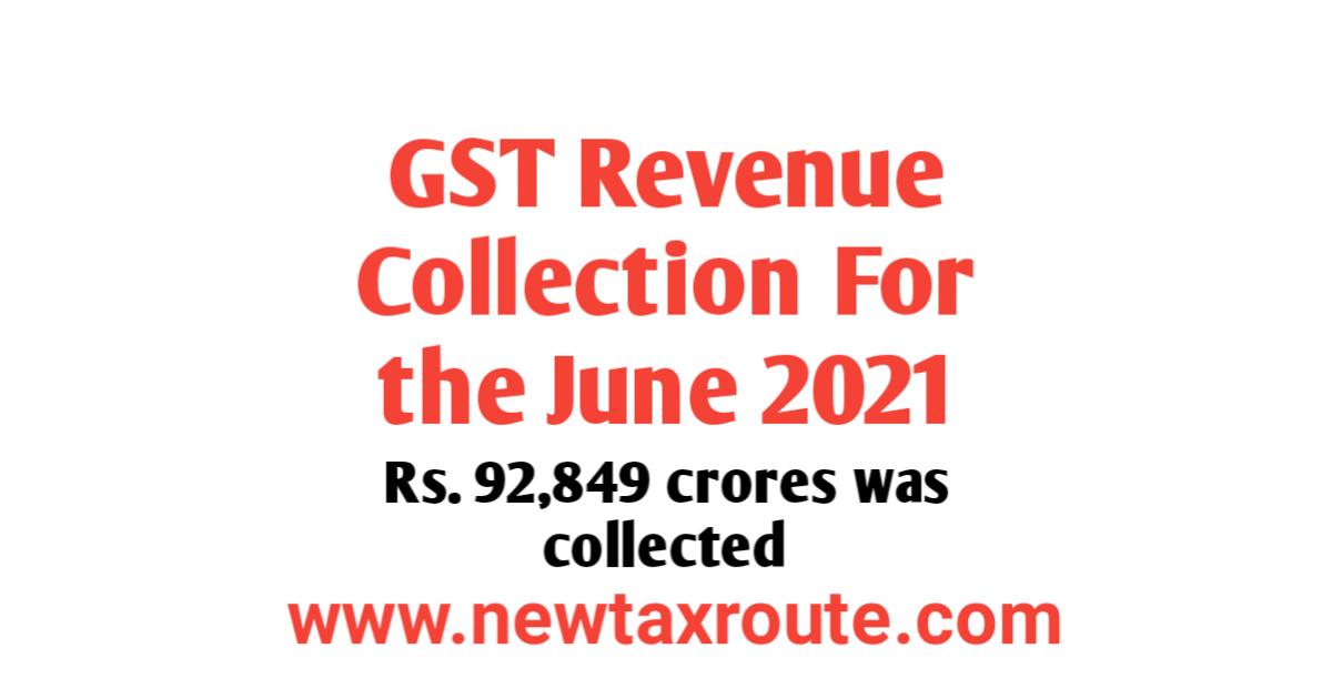GST Revenue collection for June 2021