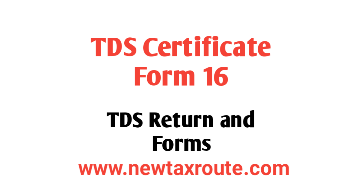 Form 16 TDS Certificate of Salary Income