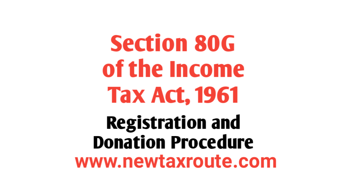 Section 80G of the Income Tax Act