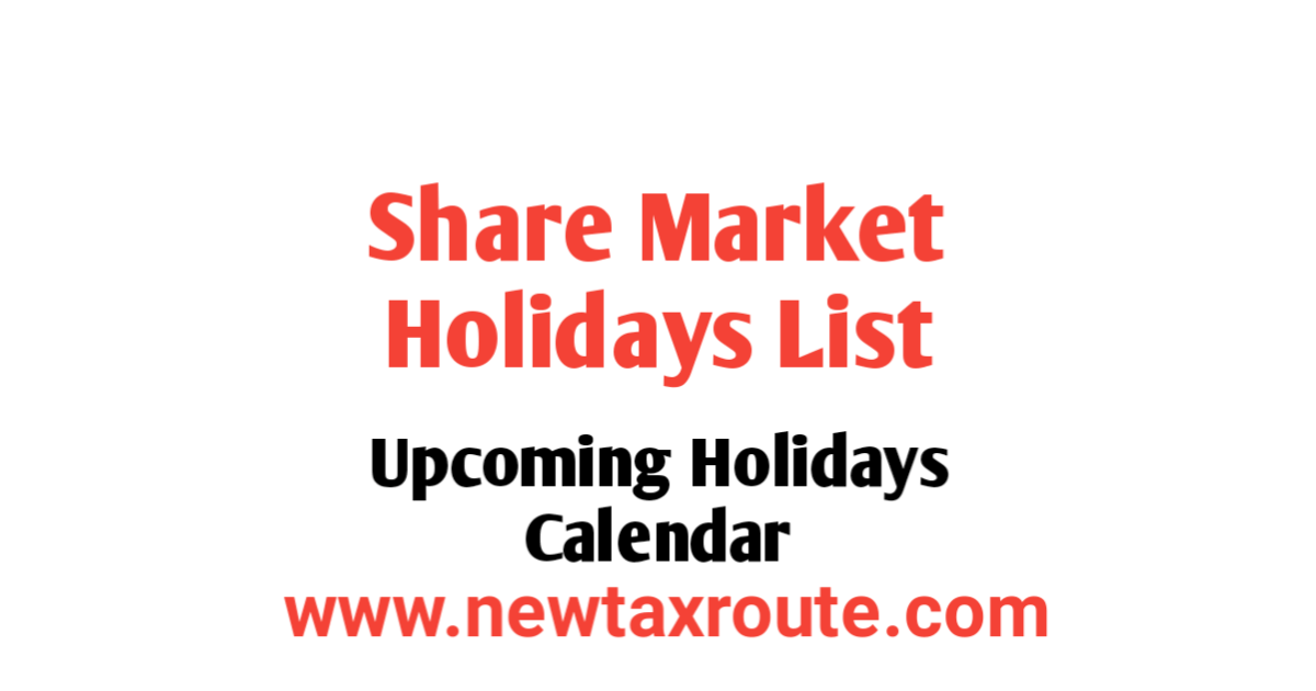 Share Market Holidays List in India
